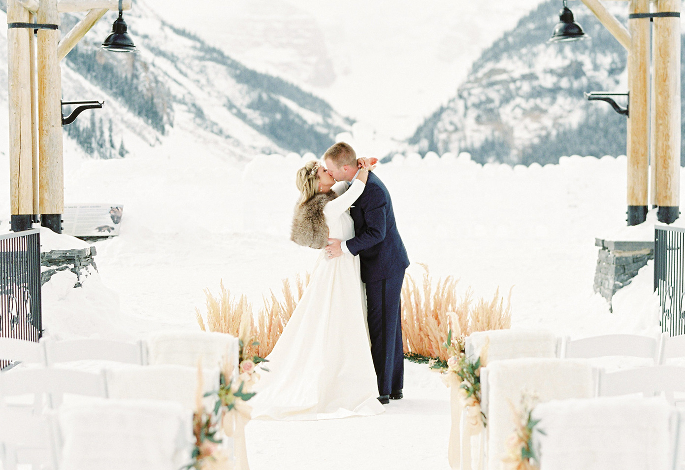 Canadian rocky mountain wedding