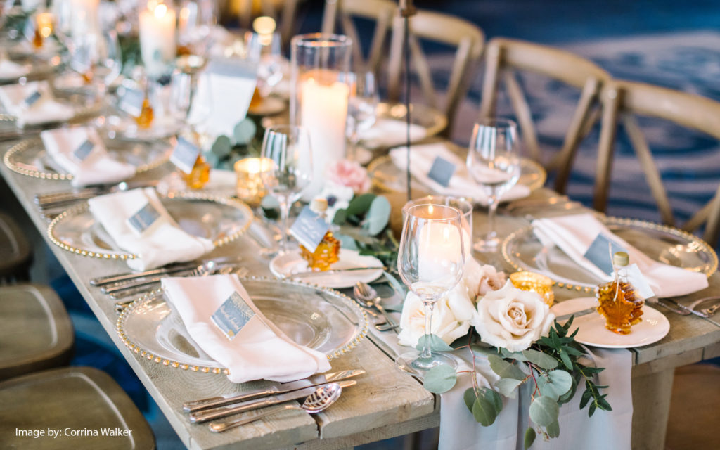 decor set for wedding in alberta - Photo credit Corrina Walker Photography