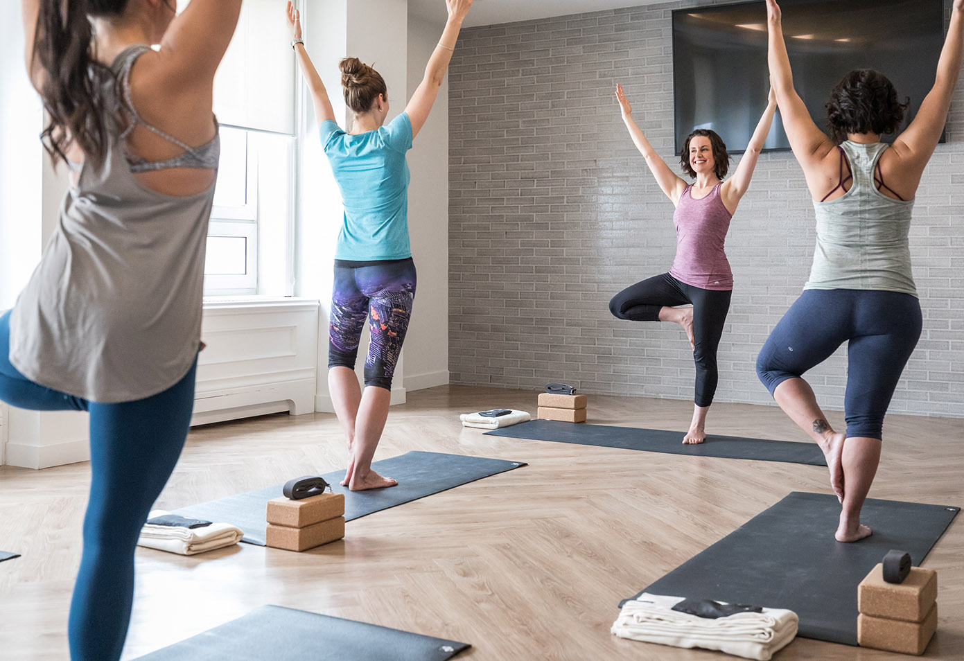 yoga and fitness class in chateau lake louise
