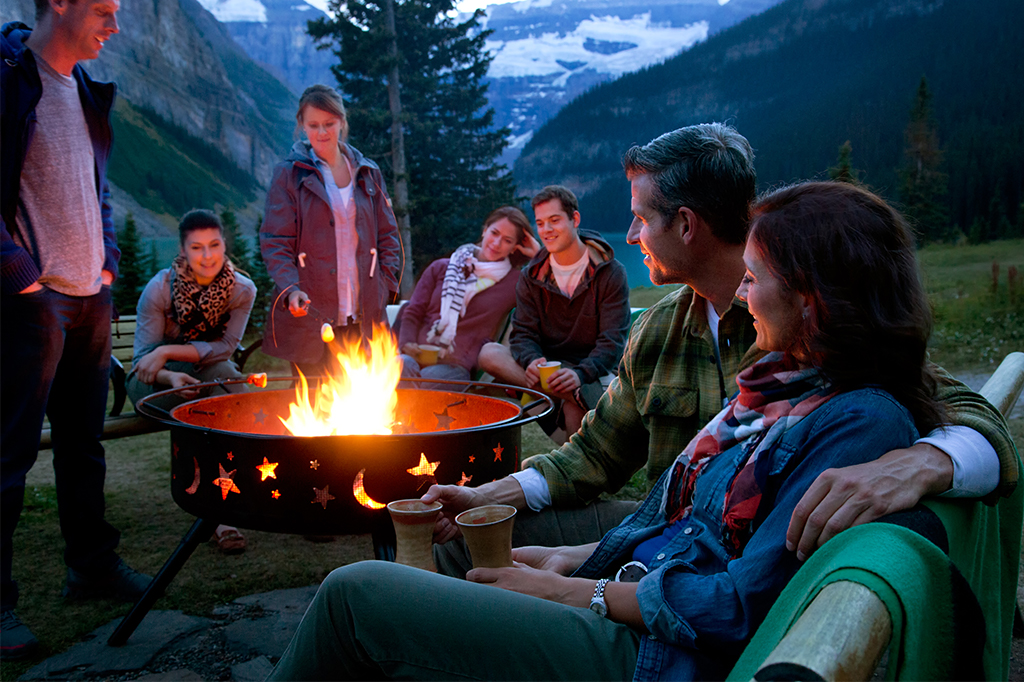 Campfire in Lake Louise