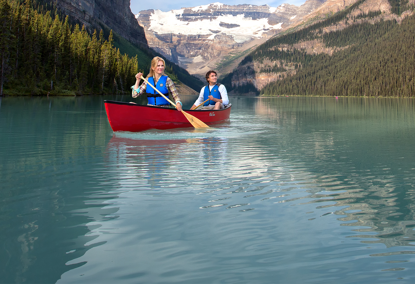 Canoe in Banff National Park, Canadian Rockies