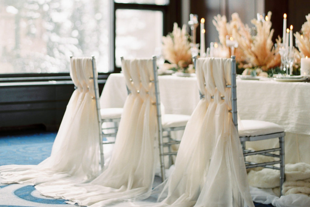 beautiful rocky mountain wedding decor - Justine Milton Photography