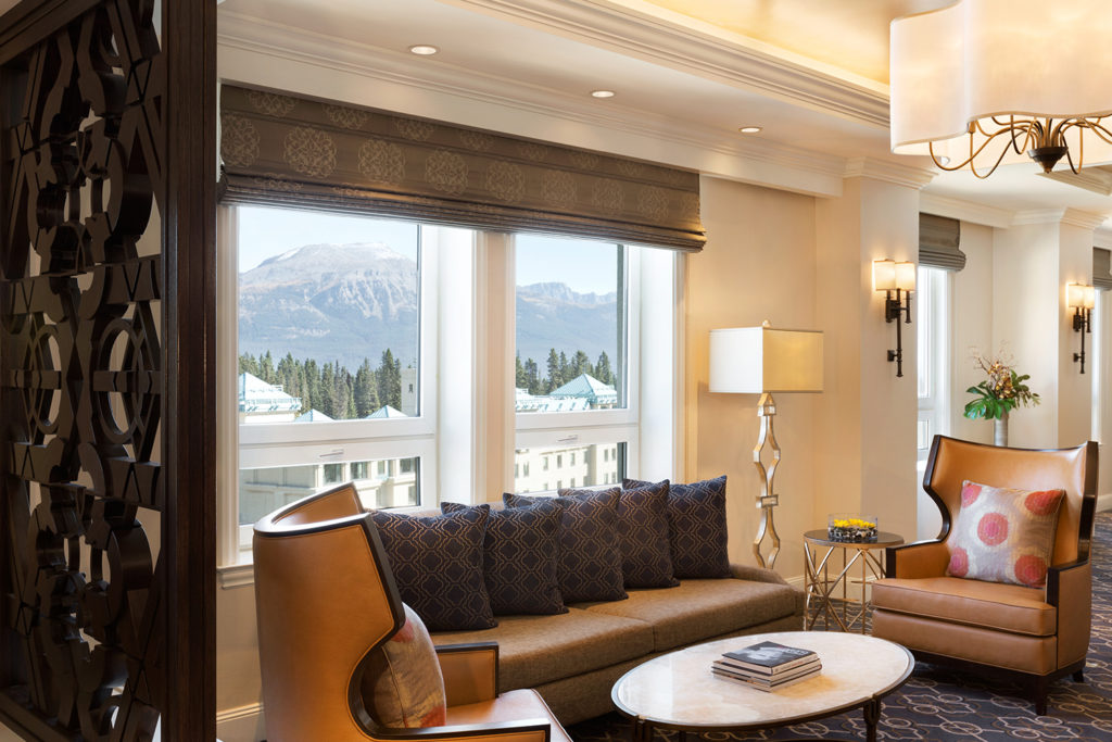 view of mountain from the fairmont gold lounge