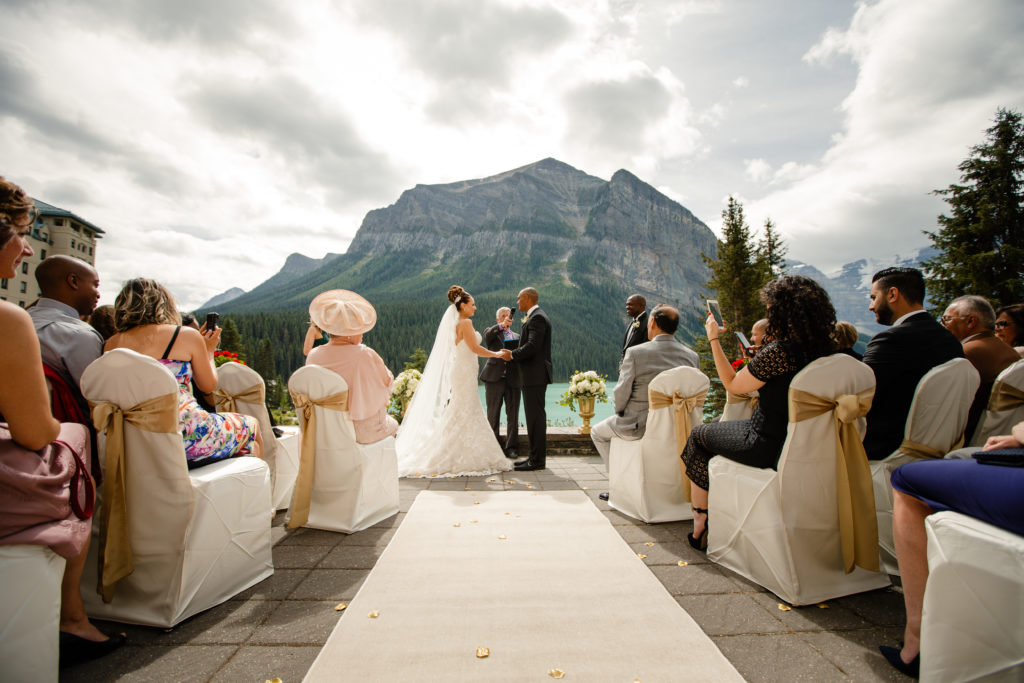 wedding at Victoria Terrance in Lake Louise