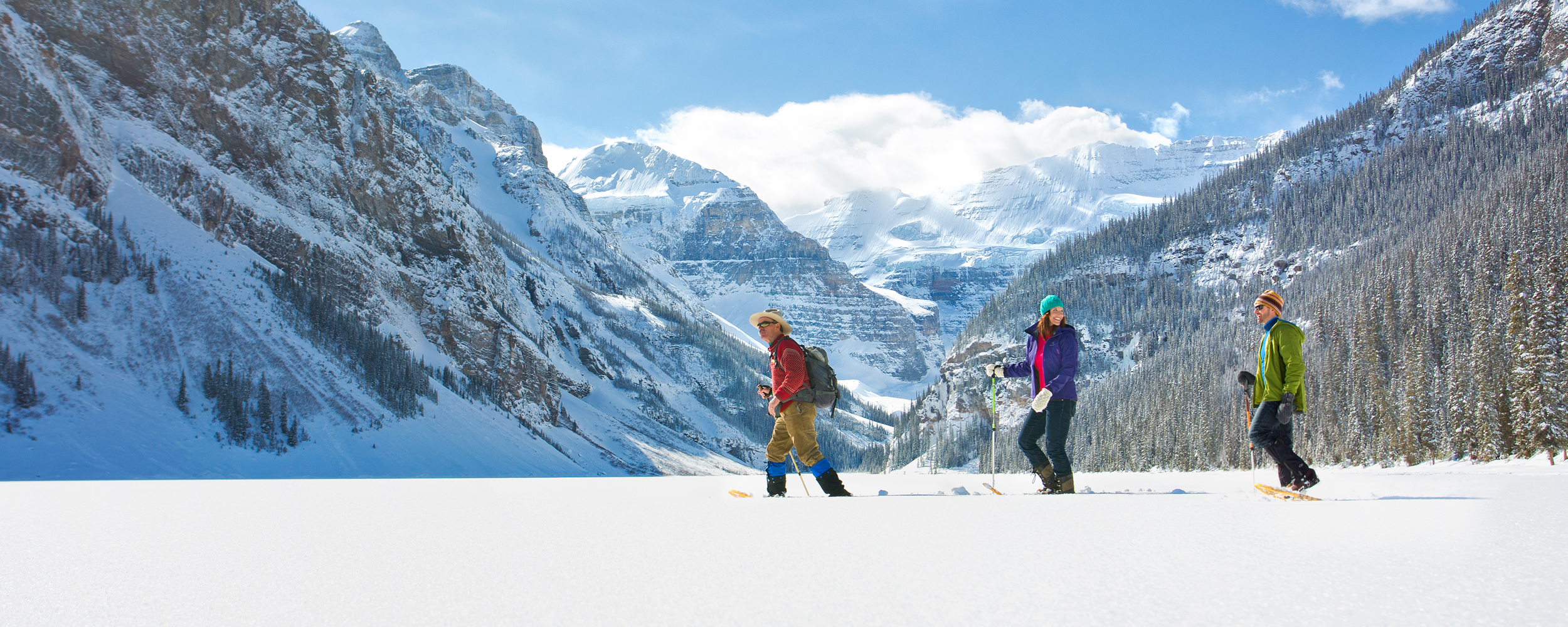 Snowshoeing in Lake Louise with a Mountain Adventure Guide