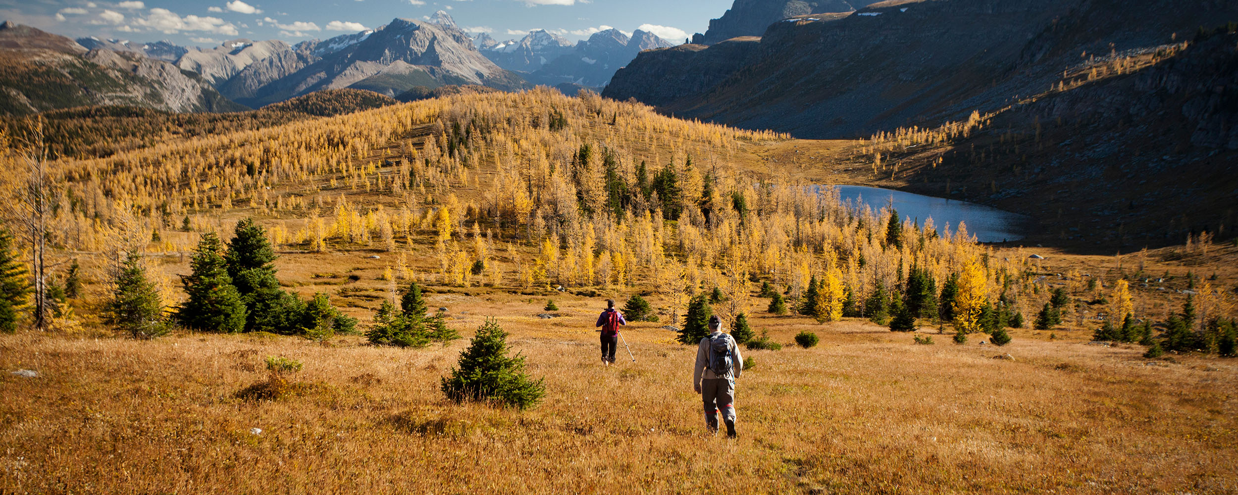 fall hiking near lake louise