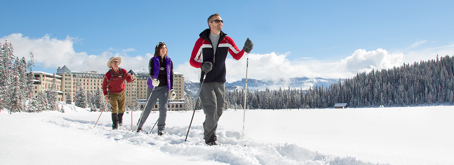 x-country ski with adventure guides
