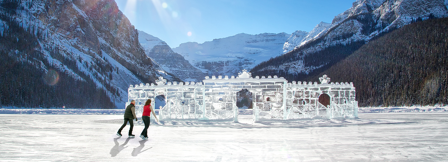 ice castle in lake louise