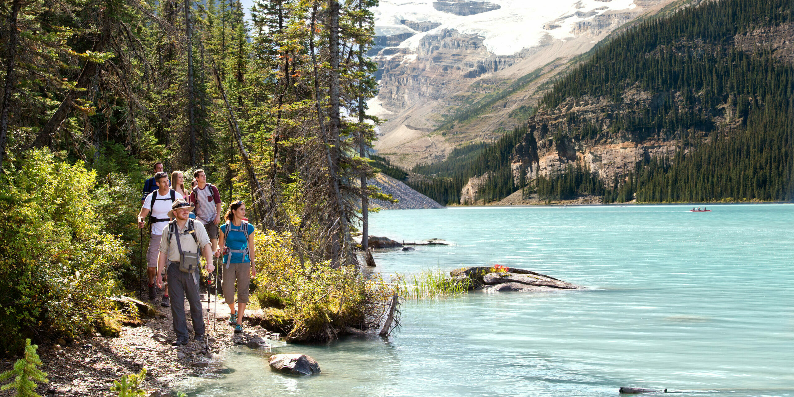 summer hikes in lake louise