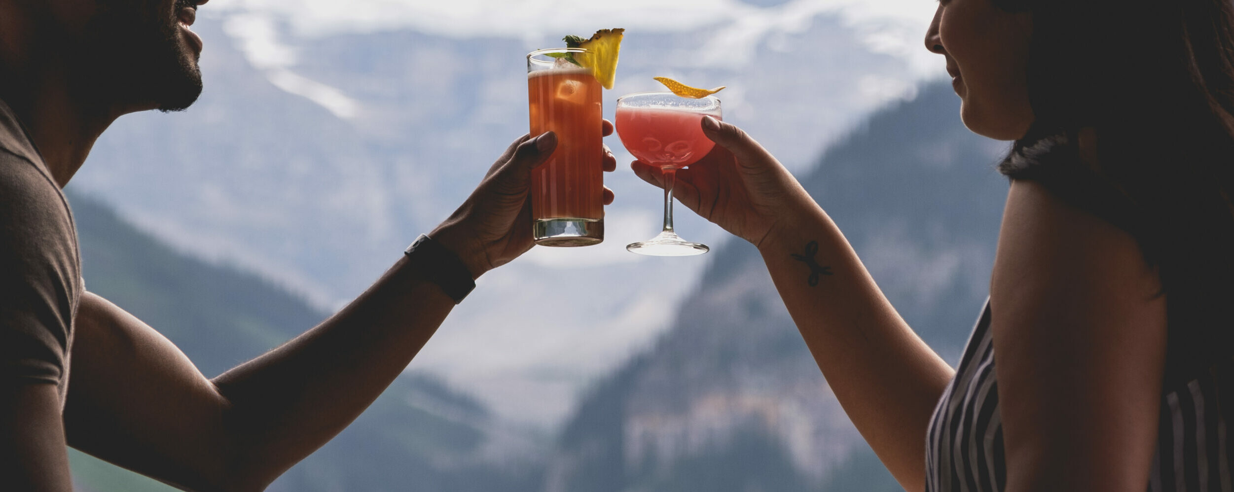 Patio drinks in Banff National Park