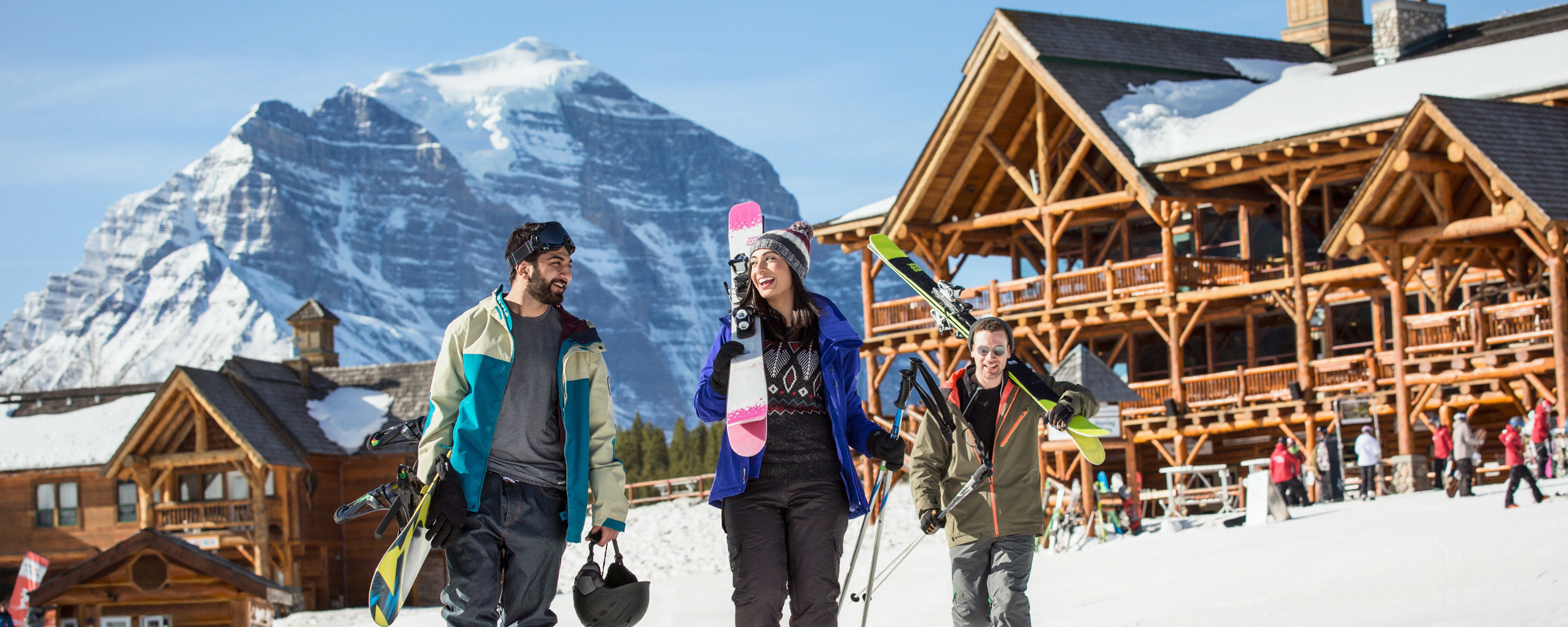 Spring skiing in Banff National Park
