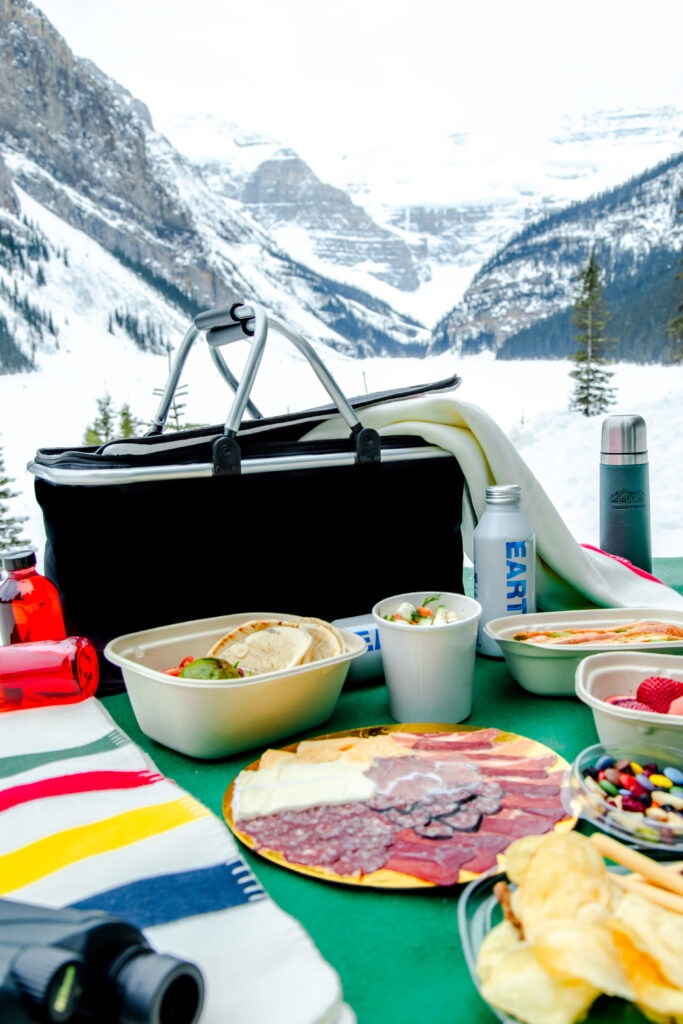 outdoor picnic in lake louise