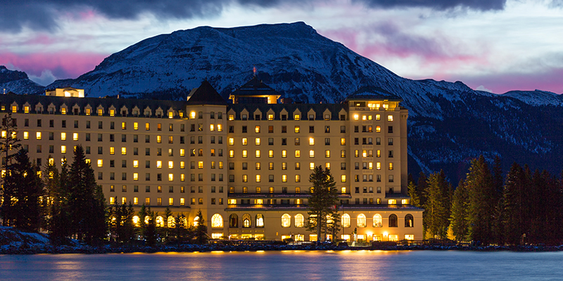 fairmont chateau lake louise hotel in banff national park