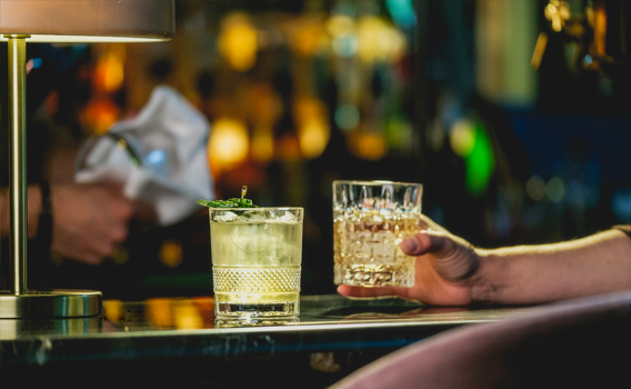 Reward yourself after a day of adventuring in the mountains, with a cocktail at Fairview Bar