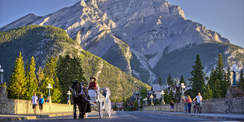 Town of banff, just a short scenic drive from Lake Louise.
