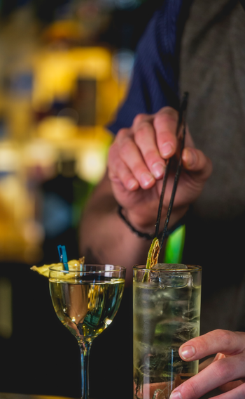 Master mixologists at Fairview Bar and Restaurant