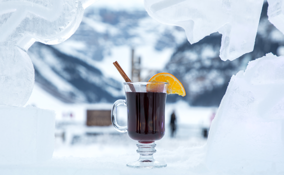 WInter cocktails at the Ice Bar in Lake Louise
