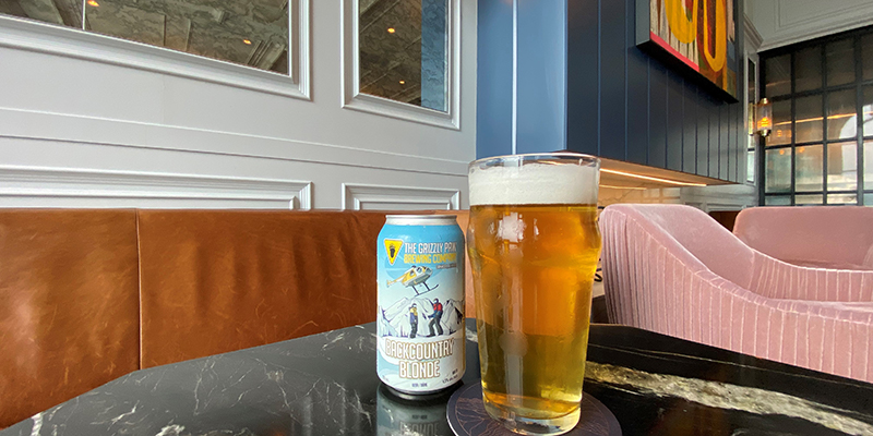 Backcountry Blonde Ale, exclusively at Fairmont Chateau Lake Louise