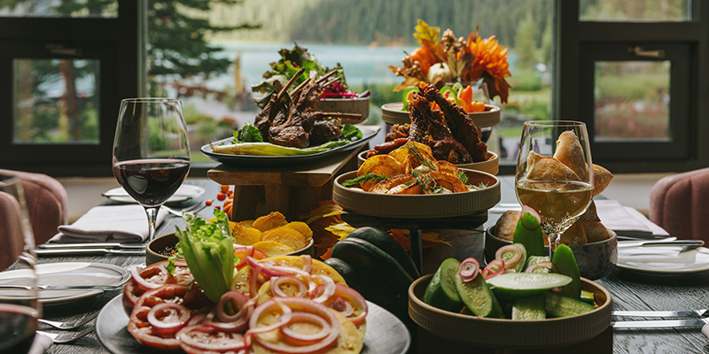 Thanksgiving dining options at Fairmont Chateau Lake Louise