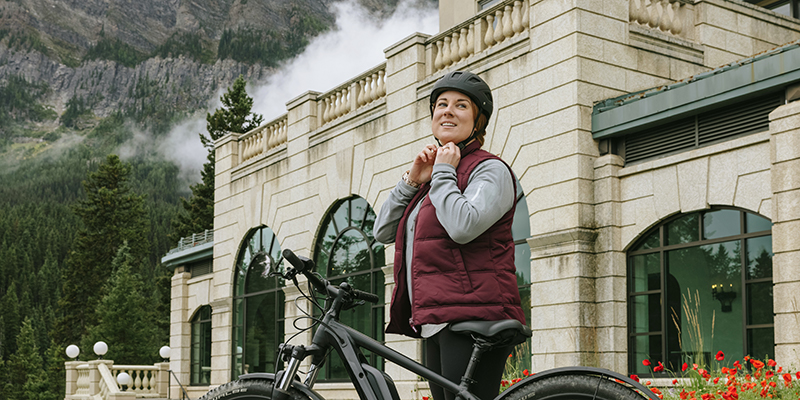 Ebikes available from the rental shop at Fairmont Chateau Lake Louise